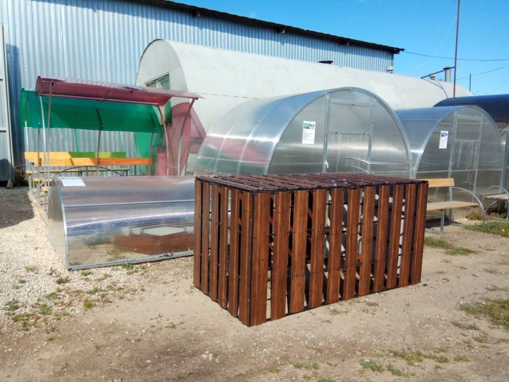 Ящик под компост в полимере под деревянную доску