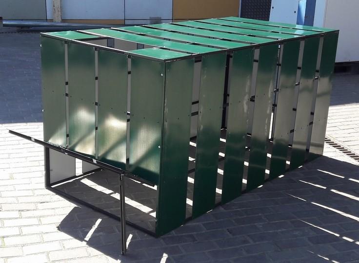 Ящик под компост в зелёном полимерном материале